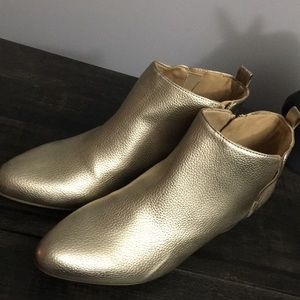 Old Navy Gold booties